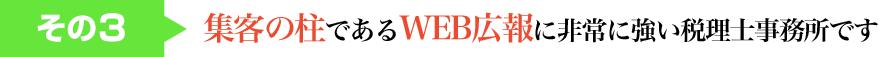 その3  集客の柱であるWEB広報に非常に強い税理士事務所です