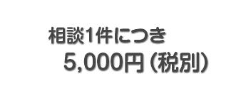 相談1件につき 5,000円(税別)